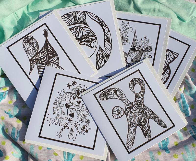 Set van 6 Lijnenspelkaarten