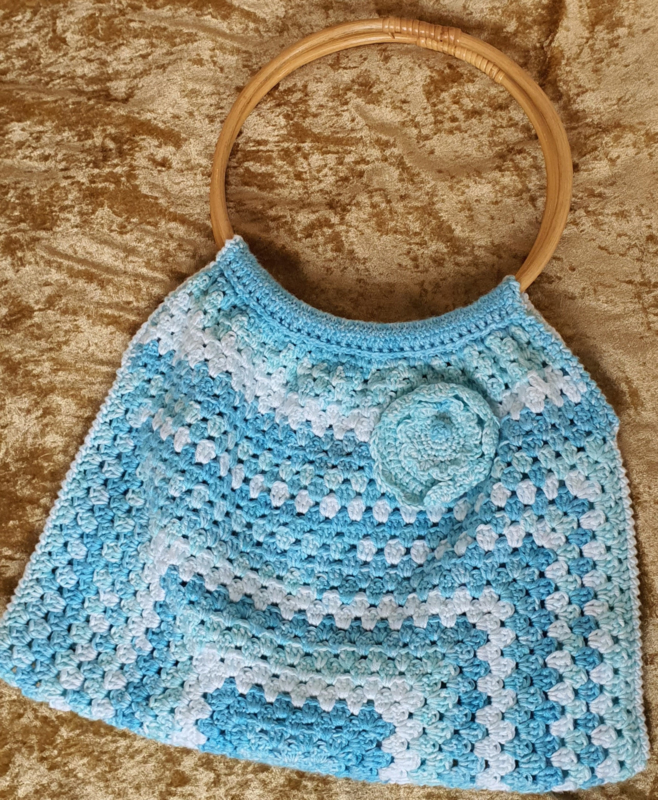Gehaakte Boho Hippie zomerse tas