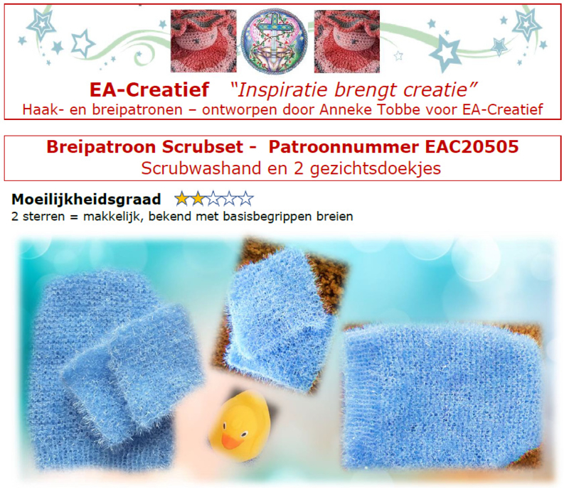Breipatroon Scrubset
