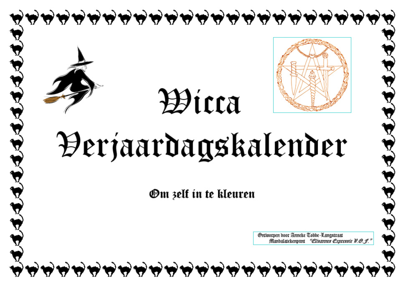 Wicca Verjaardagskalender Kleurplaten