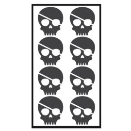 Traktatie stickers - skelet piraat