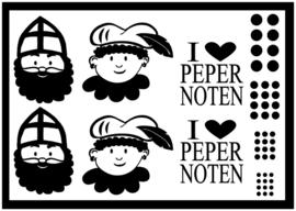 Deco-stickers Sinterklaas DIY