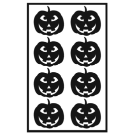 Traktatie stickers - pompoenen 3 tandjes
