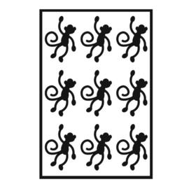 Traktatie stickers - aapjes