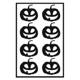 Traktatie stickers - pompoenen blij