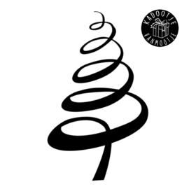 Kerst Raamsticker - Kerstboom Slinger