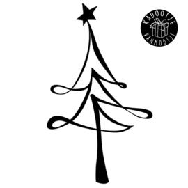 Kerst Raamsticker - Kerstboom met Ster