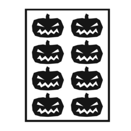 Traktatie stickers - pompoenen boos