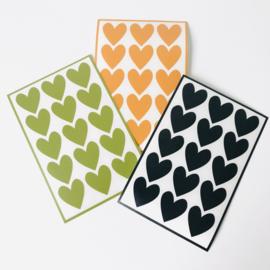Deco-stickers - hartjes