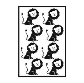 Traktatie stickers - leeuw
