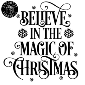 Kerst Raamsticker - Believe in the Magic of Christmas