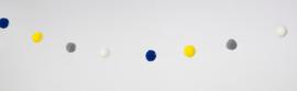 Bolletjes slinger - oker blauw