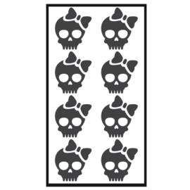 Traktatie stickers - skelet girly