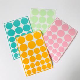 Deco-stickers - stippen gemixt