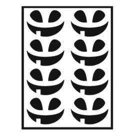 Traktatie stickers - pompoen gezichtjes blij