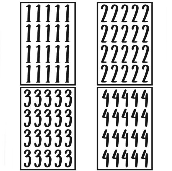 Traktatie stickers - cijfers keuze 0 t/m 9