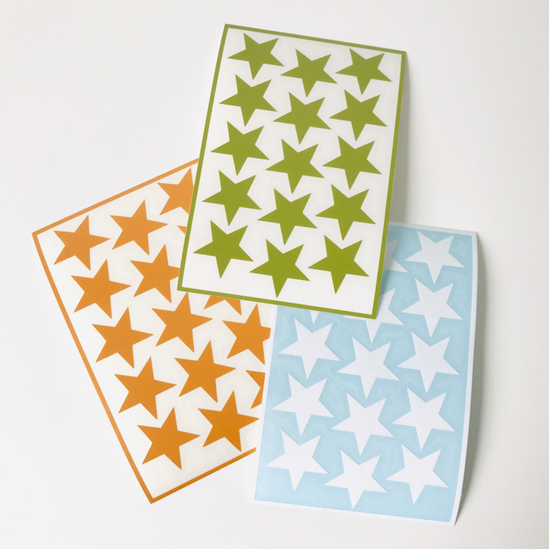 Deco-stickers - sterretjes