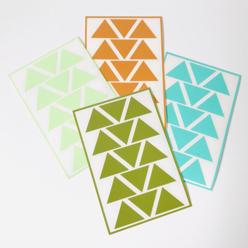 Deco-stickers - driehoekjes