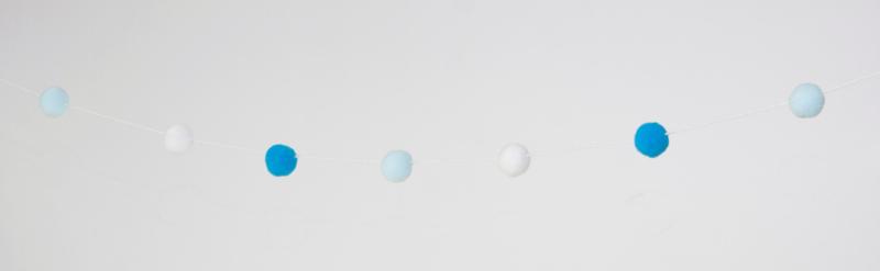 Bolletjes slinger - blauw