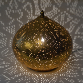 Filigrain tafellamp onion vintage goud