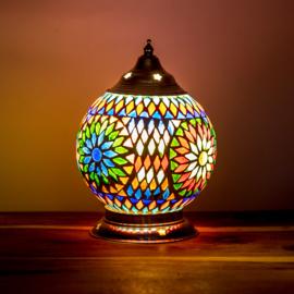 Mozaïek tafellamp 15 cm. - multi color