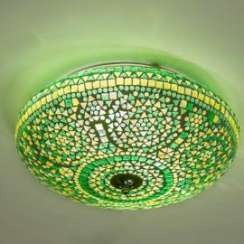 Plafondlamp mozaïek groen - 38 cm.