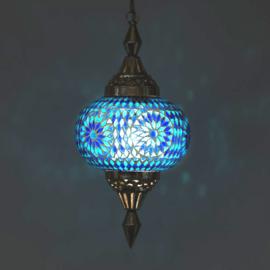 Oosterse mozaïek hanglamp pumpkin blauw