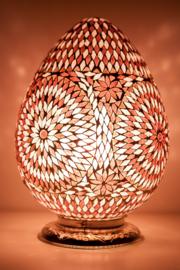 Oosterse mozaïek tafellamp Carica - paars
