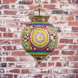 Oosterse hanglamp   diverse kleuren mozaïek   25 cm.