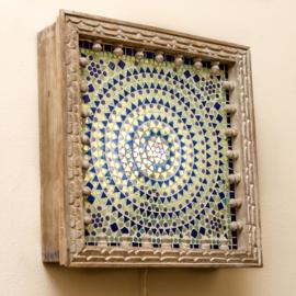 Oosterse wandlamp Mumbai verwisselbaar mozaiek paneel