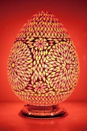 Oosterse mozaïek tafellamp Carica - rood en oranje
