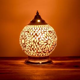 Mozaïek tafellamp paars - 15 cm.