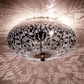 Plafondlamp filigrain  zilverkleurig - 25 cm.