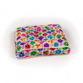 Vloerkussen flower power. Multi color.