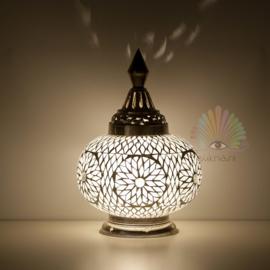 Oosterse mozaïek tafellamp pumpkin - transparant