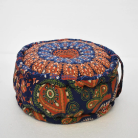 Oosterse poef mandala 15 centimeter | blauw