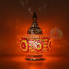 Mozaïek tafellamp pumpkin - rood en oranje