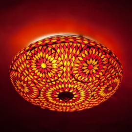 Plafondlamp mozaïek rood oranje - 38 cm. - Turks design