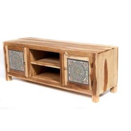 Oosters tv meubel met multi color mozaïek.