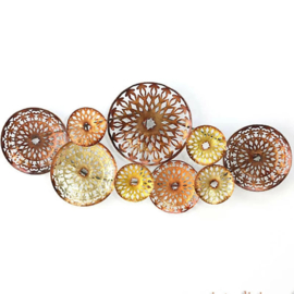 Wanddecoratie cirkels metaal