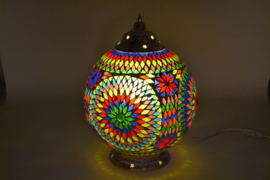 Mozaïek tafellamp 25 cm. multi color - Turks