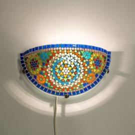 Oosterse mozaïek wandlamp halve maan - multi color