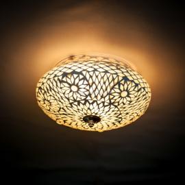 Plafondlamp mozaïek  transparant. Turks design - 25 cm.