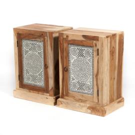 Oosters nachtkastje - transparant mozaïek paneel