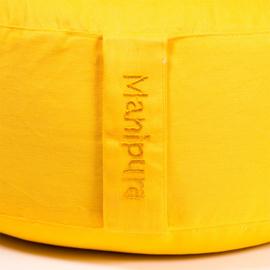 Meditatiekussen - poefje 3e Chakra geel