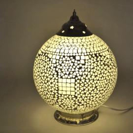 Mozaïek tafellamp 25 cm. - transparant