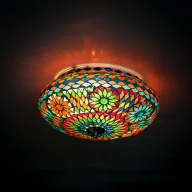 Plafondlamp mozaïek  multi color. Turks design - 25 cm.