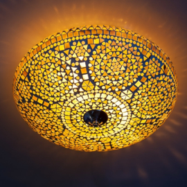 Plafondlamp mozaïek bruin-beige - 38 cm.