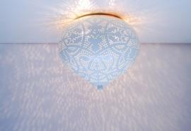 Plafondlamp Aladdin filigrain - wit
