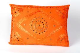 Oosters sierkussen Phenkana 50x35 cm. oranje